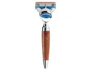 MÜHLE STYLO  5-Klingen-Rasierer Gillette® FUSION™ Thuja-Holz