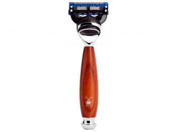 Mühle 5-Klingen Nassrasierer VIVO Pflaumenholz Gillette® FUSION® kompatibel