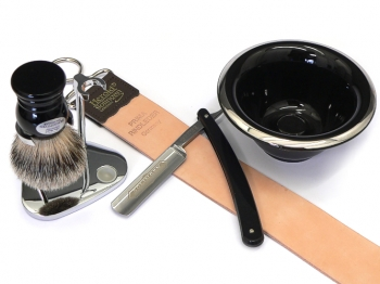 DOVO Rasiermesser Setangebot 5-teilig schwarz