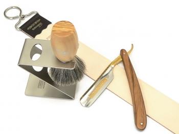 Rasiermesser-Setangebot 4-tlg. Olivenholz