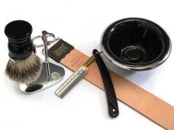 Rasiermesser Setangebot 5-teilig DOVO Bismarck schwarz