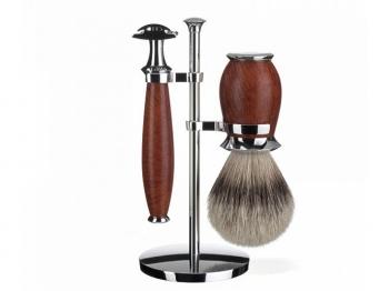 DOVO Rasiermesser 6/8 Zoll Grenadille Holz Perlmutt-Einlage