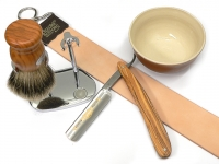 Rasiermesser Setangebot 5-teilig Olivenholz