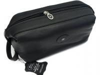 HK Style (R) Kulturtasche Rindleder schwarz