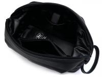 HK Style (R) Kulturtasche echt Rindleder schwarz