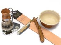 Rasiermesser Setangebot 5-teilig Bismarck Olivenholz