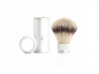 Mühle Reise Rasierpinsel Silvertip Fibre® silberfarben matt