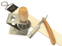 DOVO Rasiermesser-Setangebot 4-tlg. Olivenholz