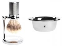 Set Angebot Mühle Rasierpinsel Traditional Silvertip Fibre® mit Halter und Seifenschale