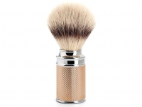 Mühle Rasierpinsel Traditional Silvertip Fibre® Metall rotvergoldet