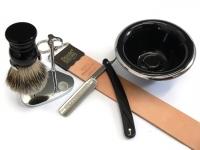 DOVO Rasiermesser Set Angebot 5-teilig rostfrei schwarz