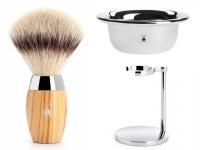 Rasierpinsel Set Angebot Mühle KOSMO Silvertip Fibre® Olivenholz