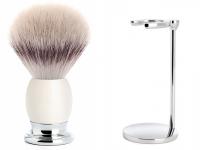 Rasierpinsel Set Angebot Mühle SOPHIST Silvertip Fibre® Porzellanfuß