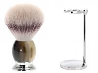 Rasierpinsel Set Angebot Mühle SOPHIST Silvertip Fibre® Echt-Horn